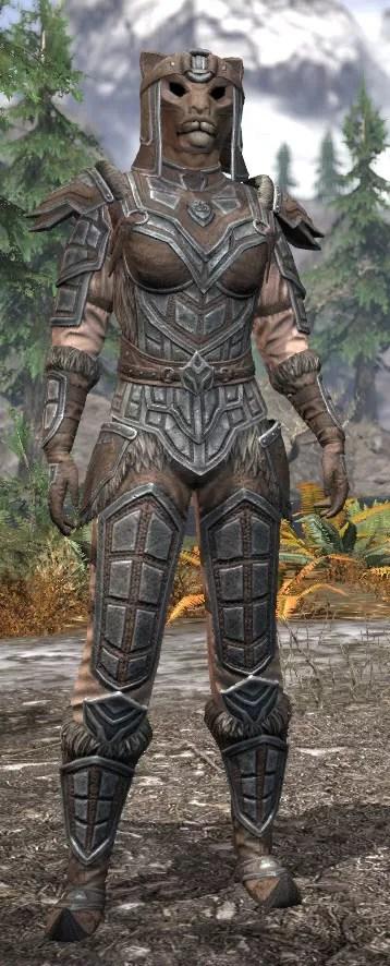 Ancestral Orc Rawhide - Khajiit Female Front