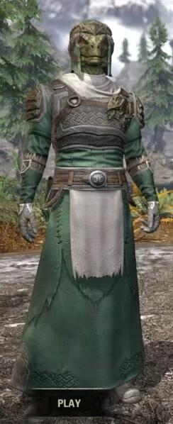 Blackreach Vanguard Homespun - Argonian Male Robe Front