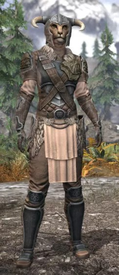 Blackreach Vanguard Iron - Khajiit Female Front