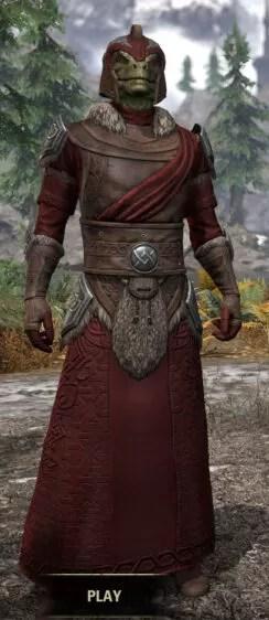 Swordthane Light - Argonian Male Robe Front