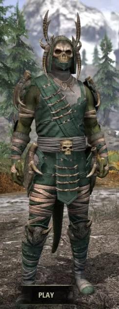 Ancestral Reach Homespun - Argonian Male Shirt Front