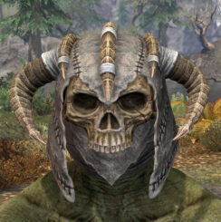 Ancestral Reach Iron Helm - Argonian Male Front