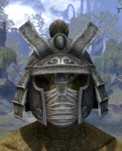 Ancestral Akaviri Iron Helm - Argonian Male Front