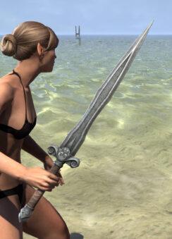 Ancestral Akaviri Iron Sword 2