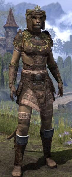 Black Fin Legion Rawhide - Khajiit Female Front