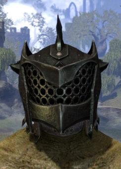 Crimson Oath Heavy Helm - Argonian Male Front