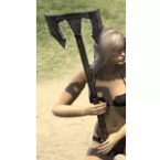 Dark Elf Iron Battle Axe