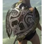Glass Ruby Ash Shield
