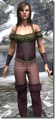 Corseted Riding Outfit Dyed Close Front
