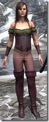 Corseted Riding Outfit Dyed Front