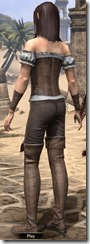 Corseted Riding Outfit - Female Back