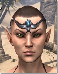 Azure Brow-to-Temple Circlet Female Front