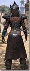 Ebony Ancestor Silk Robe - Female Close Back