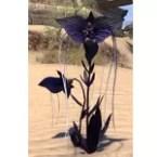 Flowers, Opposing Purple Bat Blooms