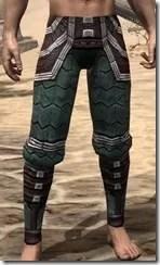 Argonian Dwarven Greaves - Male Front