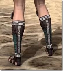 Argonian Dwarven Sabatons - Female Rear