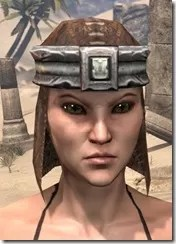 Argonian Iron Helm - Female Front