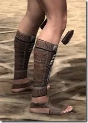 Argonian Iron Sabatons - Female Right