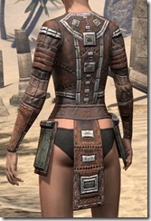 Argonian Steel Cuirass - Female Rear