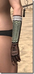 Argonian Steel Gauntlets - Female Side