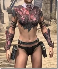 Fang Lair Rubedite Cuirass - Female Front