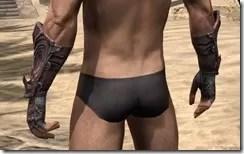 Fang Lair Rubedite Gauntlets - Male Rear
