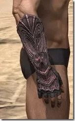 Fang Lair Rubedite Gauntlets - Male Right