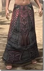Fang Lair Rubedite Greaves - Female Front