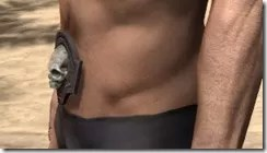 Fang Lair Rubedo Leather Belt - Male Side