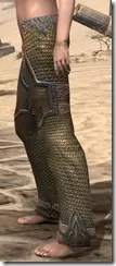 Orc Dwarven Greaves - Female Side