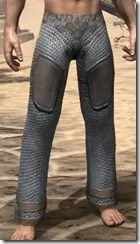 Orc Steel Greaves - Male Front