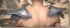 Orc Steel Pauldron - Male Rear