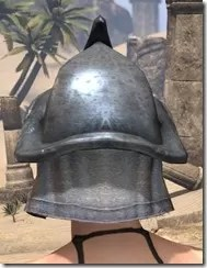 Redguard Iron Helm - Female Rear
