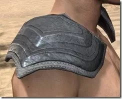 Redguard Iron Pauldron - Male Right