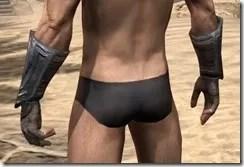 Redguard Steel Gauntlets - Male Rear