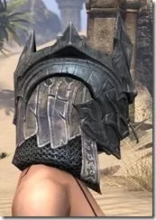 Worm Cult Iron Helm - Female Right