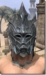 Worm Cult Iron Helm - Male Front