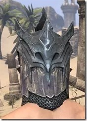 Worm Cult Iron Helm - Male Rear