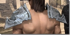Worm Cult Iron Pauldron - Male Rear
