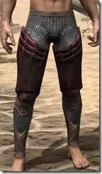 Worm Cult Rubedite Greaves - Male Front