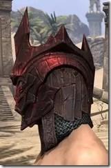 Worm Cult Rubedite Helm - Male Side
