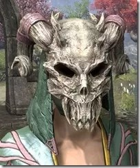 Daedric Death Mask - Dyed Front