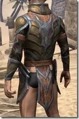Dark Elf Dwarven Cuirass - Male Rear