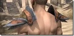 Dark Elf Dwarven Pauldron - Male Rear