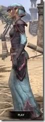 Dark Elf Homespun - Dyed Robe Side
