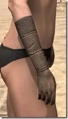 Dark Elf Homespun Gloves - Female Right
