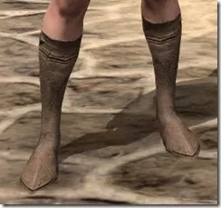 Dark Elf Homespun Shoes - Female Front