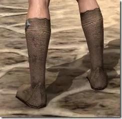 Dark Elf Homespun Shoes - Male Rear