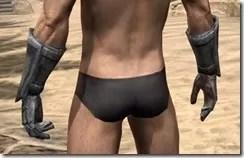 Dark Elf Iron Gauntlets - Male Rear