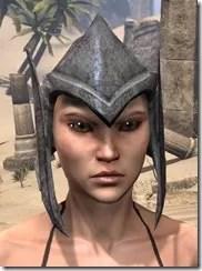 Dark Elf Iron Helm - Female Front